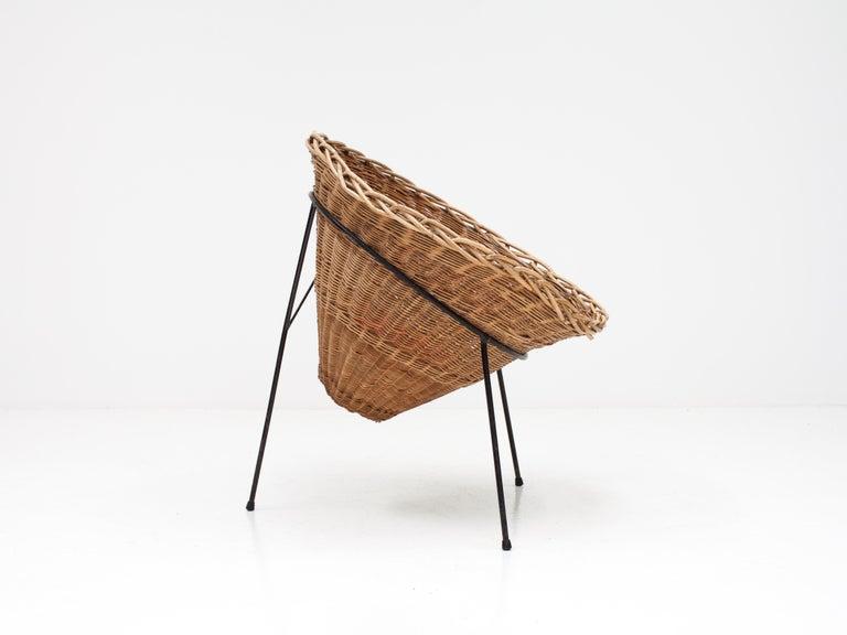 Fabric Terence Conran C8 Cone Chair, Conran Furniture, England, 1954 For Sale