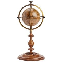 Terrestral Globe Signed Delamarche, Paris, 1864