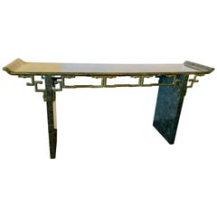 Tessellated Enrique Garcel Console / Alter Table, Mid-Century Modern