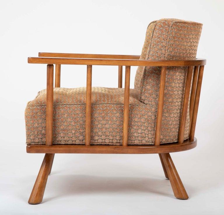 A T.H. Robsjohn Gibbings Barrel Back Armchair in Maple For Sale 4