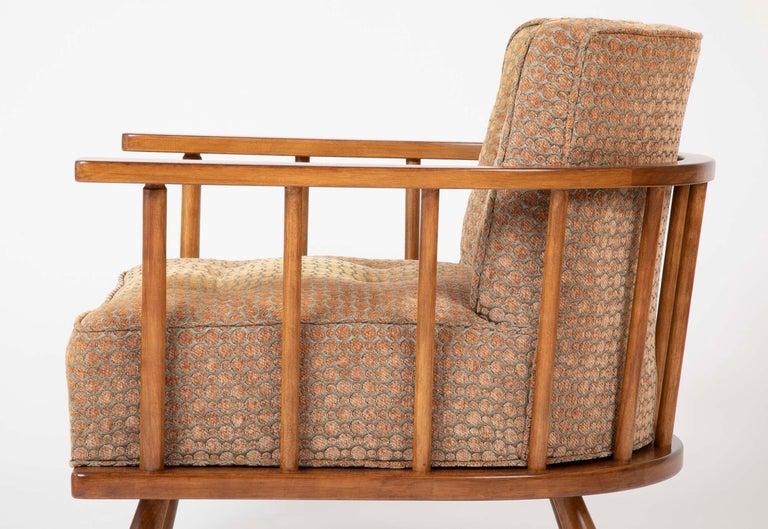 A T.H. Robsjohn Gibbings Barrel Back Armchair in Maple For Sale 5