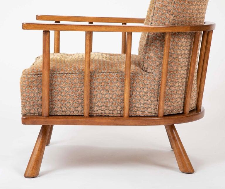 A T.H. Robsjohn Gibbings Barrel Back Armchair in Maple For Sale 6