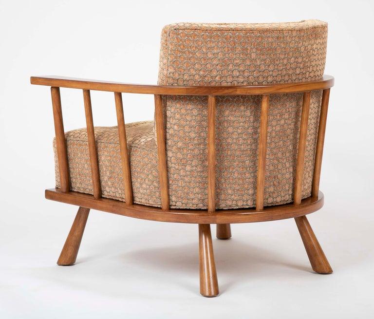 A T.H. Robsjohn Gibbings Barrel Back Armchair in Maple For Sale 7