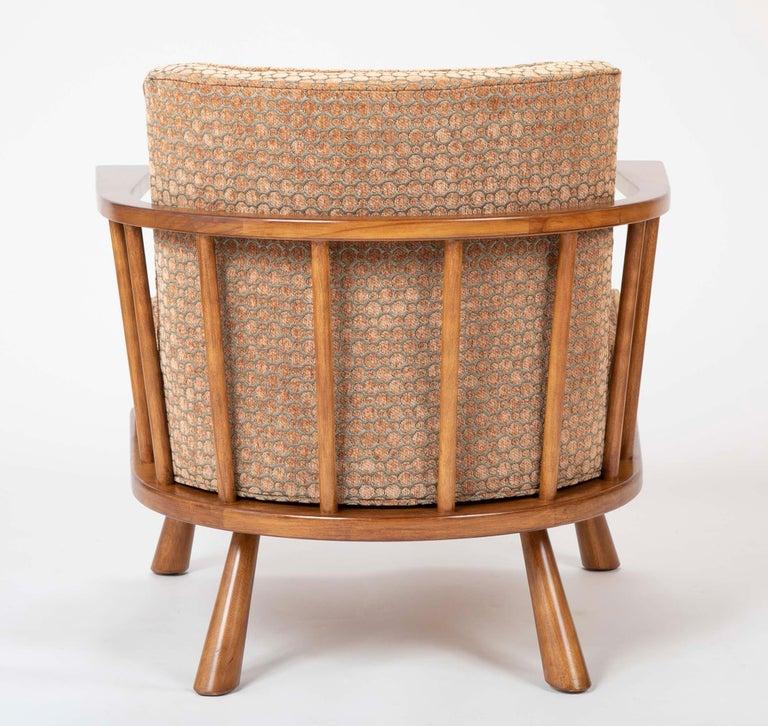 A T.H. Robsjohn Gibbings Barrel Back Armchair in Maple For Sale 9