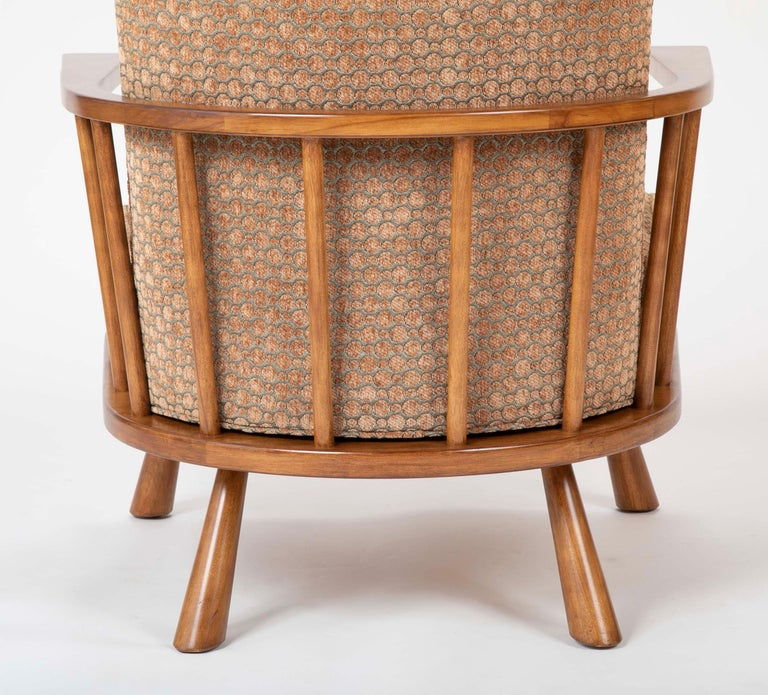 A T.H. Robsjohn Gibbings Barrel Back Armchair in Maple For Sale 10