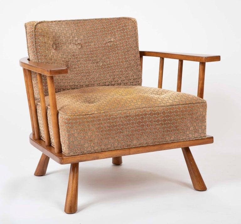 Mid-Century Modern A T.H. Robsjohn Gibbings Barrel Back Armchair in Maple For Sale