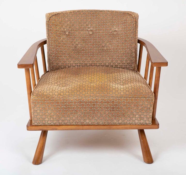 American A T.H. Robsjohn Gibbings Barrel Back Armchair in Maple For Sale