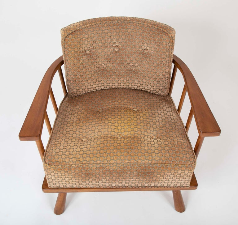 A T.H. Robsjohn Gibbings Barrel Back Armchair in Maple In Good Condition For Sale In Stamford, CT