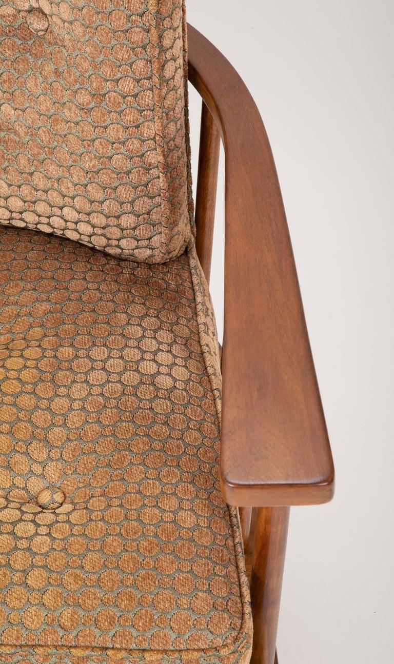 20th Century A T.H. Robsjohn Gibbings Barrel Back Armchair in Maple For Sale
