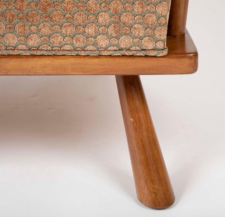 A T.H. Robsjohn Gibbings Barrel Back Armchair in Maple For Sale 1