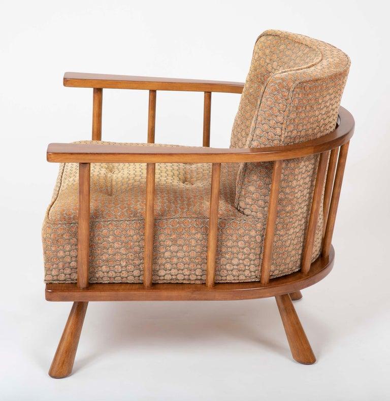 A T.H. Robsjohn Gibbings Barrel Back Armchair in Maple For Sale 3