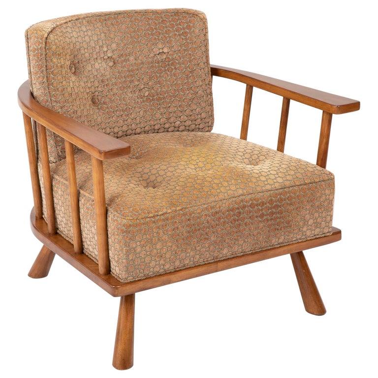 A T.H. Robsjohn Gibbings Barrel Back Armchair in Maple For Sale