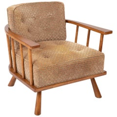 T.H. Robsjohn-Gibbings Barrel Back Armchair in Maple