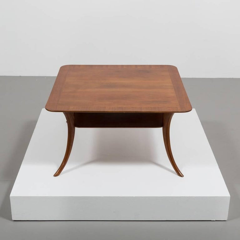 A sublime example of Robsjohns Gibbings work dating from the late 1950s – early 1960s. This coffee or end table is finished in American walnut standing on elegant Sabre legs.