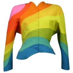 A Thierry Mugler Arc en ciel Jacket Spring Summer Collection 1990