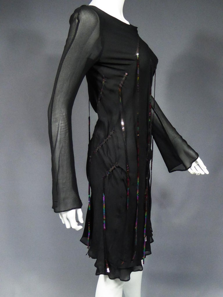 A Thierry Mugler Couture Little Black Dress Circa 2000 For Sale 6