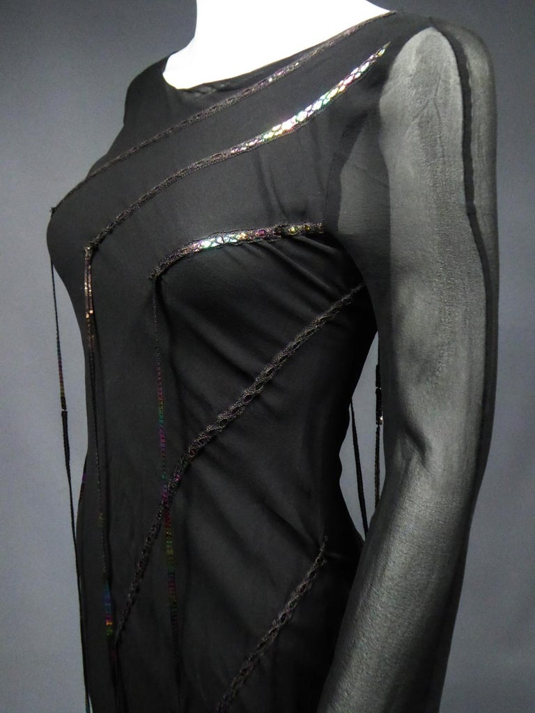 A Thierry Mugler Couture Little Black Dress Circa 2000 For Sale 9