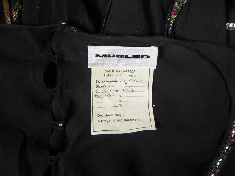 A Thierry Mugler Couture Little Black Dress Circa 2000 In Excellent Condition For Sale In Toulon, FR
