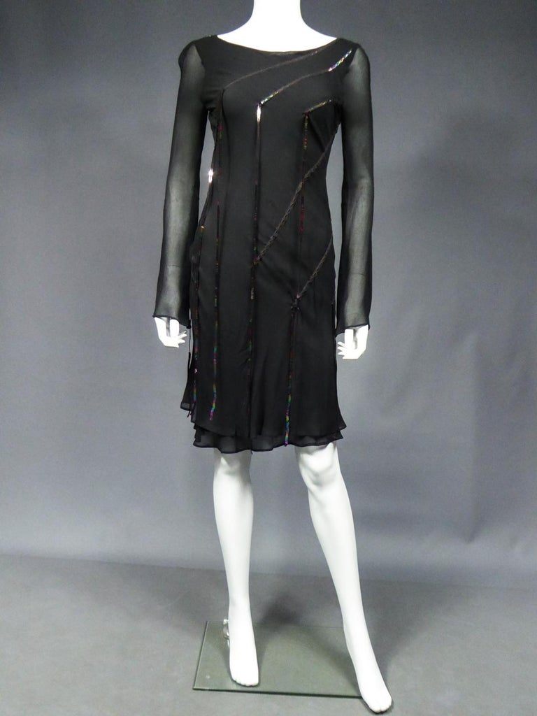 Women's A Thierry Mugler Couture Little Black Dress Circa 2000 For Sale