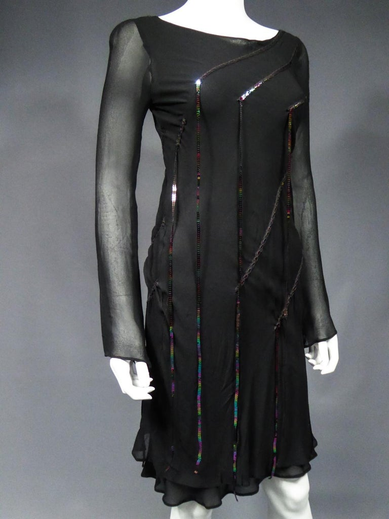 A Thierry Mugler Couture Little Black Dress Circa 2000 For Sale 4