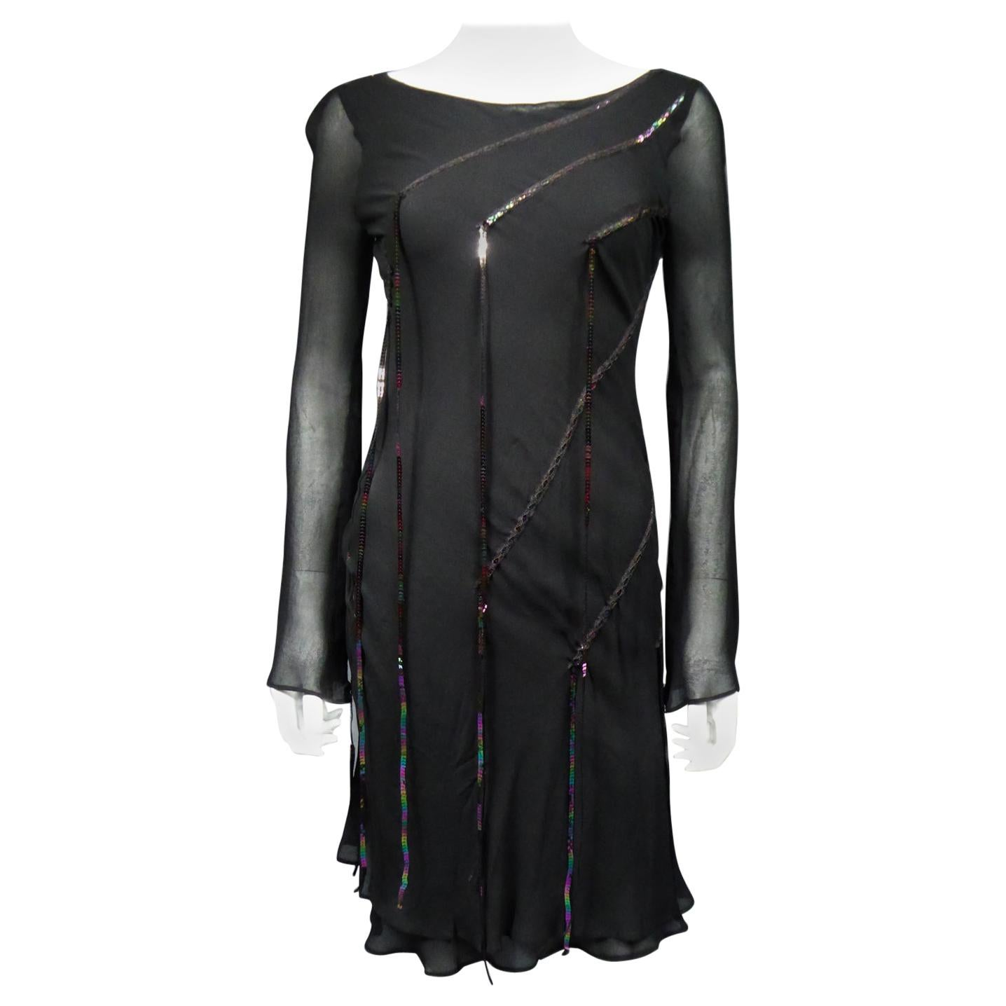 A Thierry Mugler Couture Little Black Dress Circa 2000