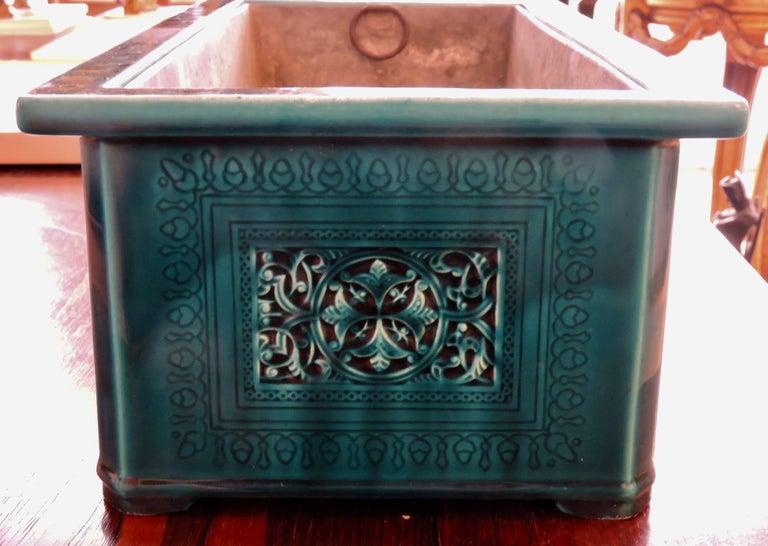 Théodore Deck Blue-Persian Faience Islamic Design Jardinière 19th Century For Sale 1