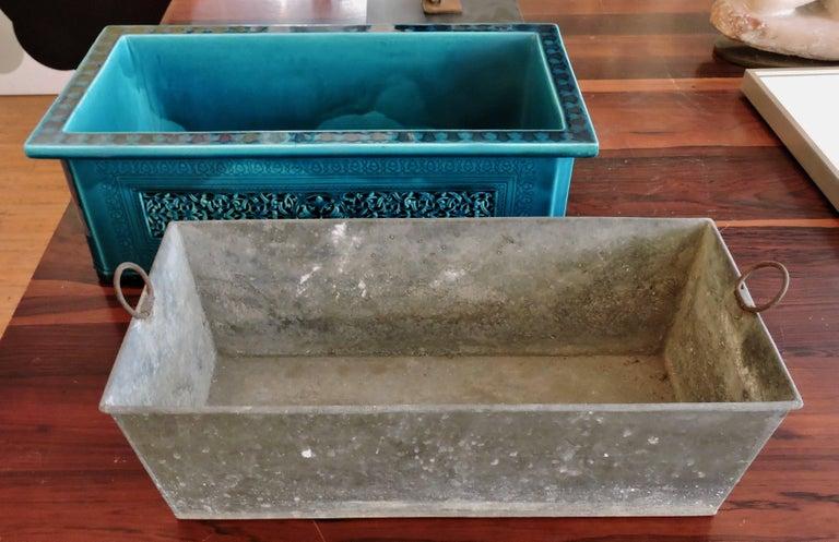 Théodore Deck Blue-Persian Faience Islamic Design Jardinière 19th Century For Sale 3