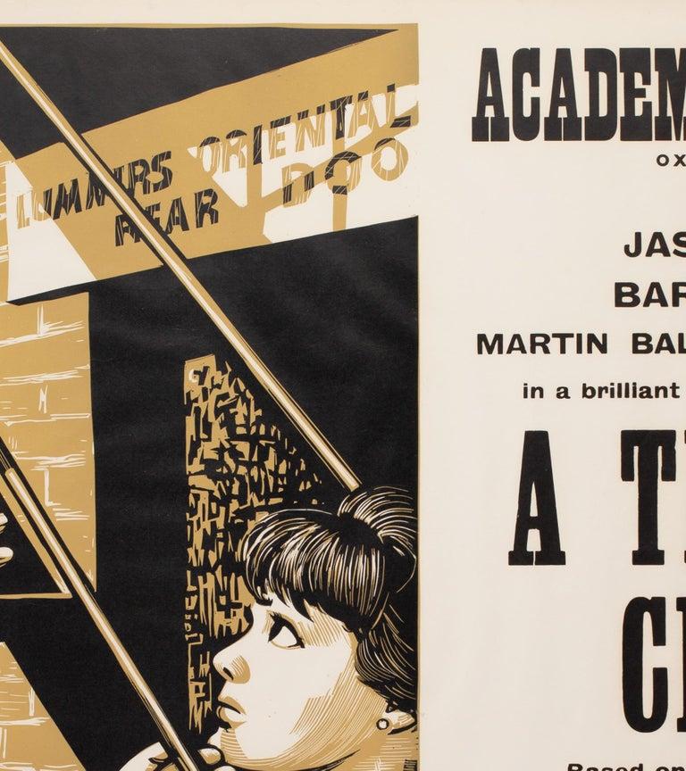 20th Century A Thousand Clowns 1966 Academy Cinema UK Quad Film Poster, Strausfeld For Sale