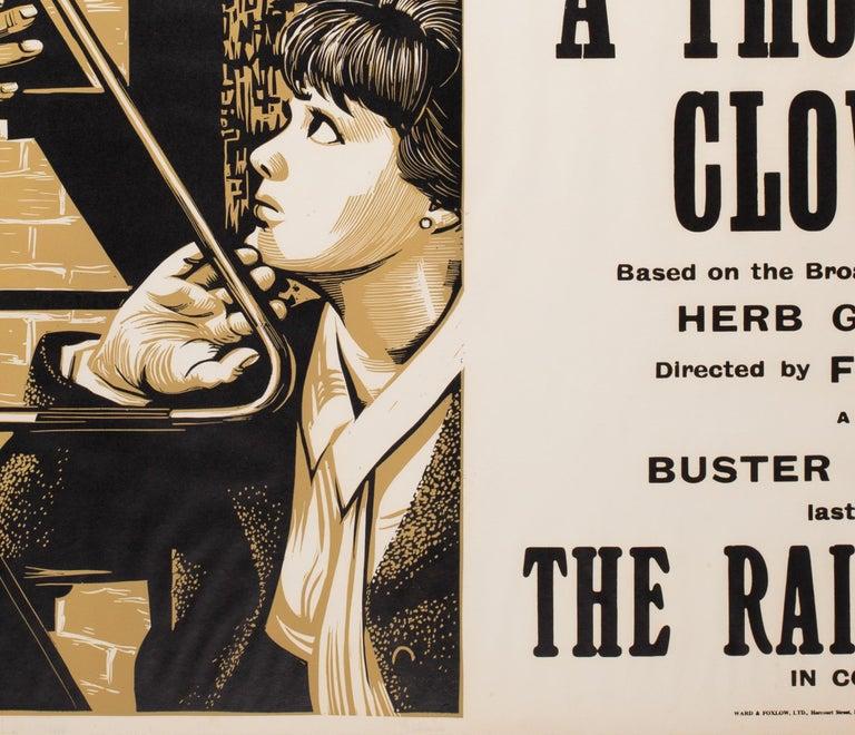 A Thousand Clowns 1966 Academy Cinema UK Quad Film Poster, Strausfeld For Sale 1
