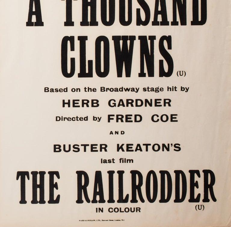 A Thousand Clowns 1966 Academy Cinema UK Quad Film Poster, Strausfeld For Sale 2
