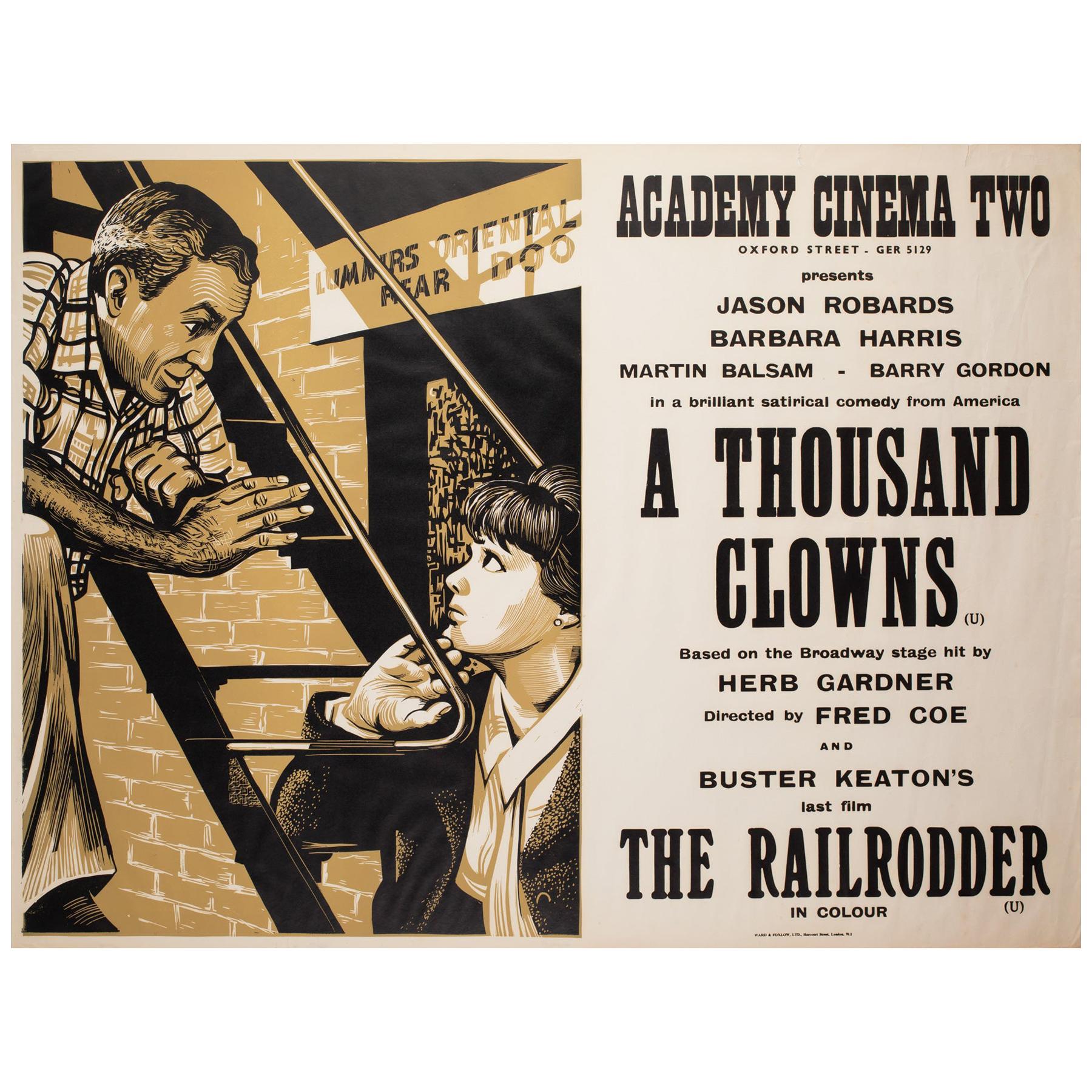 A Thousand Clowns 1966 Academy Cinema UK Quad Film Poster, Strausfeld