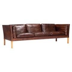 Three-Seater Sofa with Original Leather