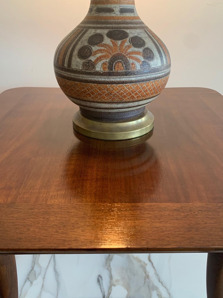 T.H. Robsjohn-Gibbings for Widdicomb Occasional Klismos Table For Sale 3