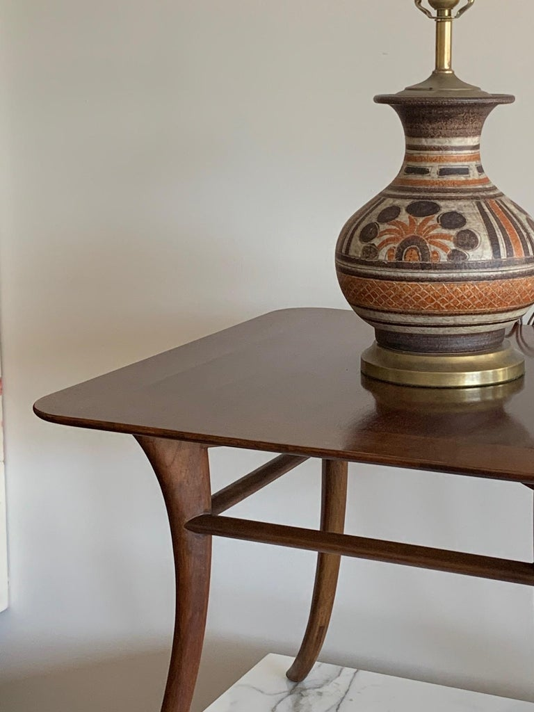 Mid-Century Modern T.H. Robsjohn-Gibbings for Widdicomb Occasional Klismos Table For Sale