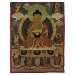 Tibetan Thangka Depicting Buddha Amitabha, circa 1900-1920
