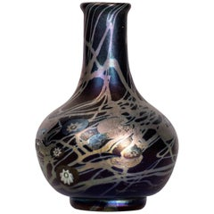 Tiffany Favrile and Millifiore Glass Cabinet Vase, circa 1902