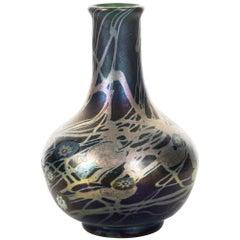 Tiffany Favrile and Millifiore Glass Cabinet Vase, circa 1902