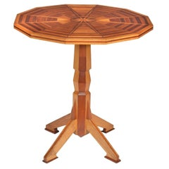Tilt-Top Occasional Parquetry Table by R. Vincent