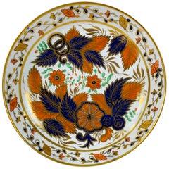 Tobacco Leaf Pattern Porcelain Saucer Dish England, circa 1820