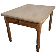 Traditional Victorian Scrub Top Pine Kitchen Table