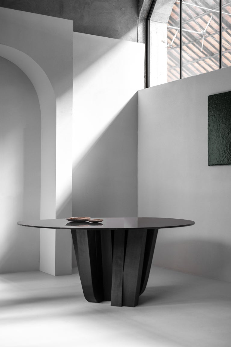 Modern A-Typical Round Table, Signed by Arno Declercq For Sale