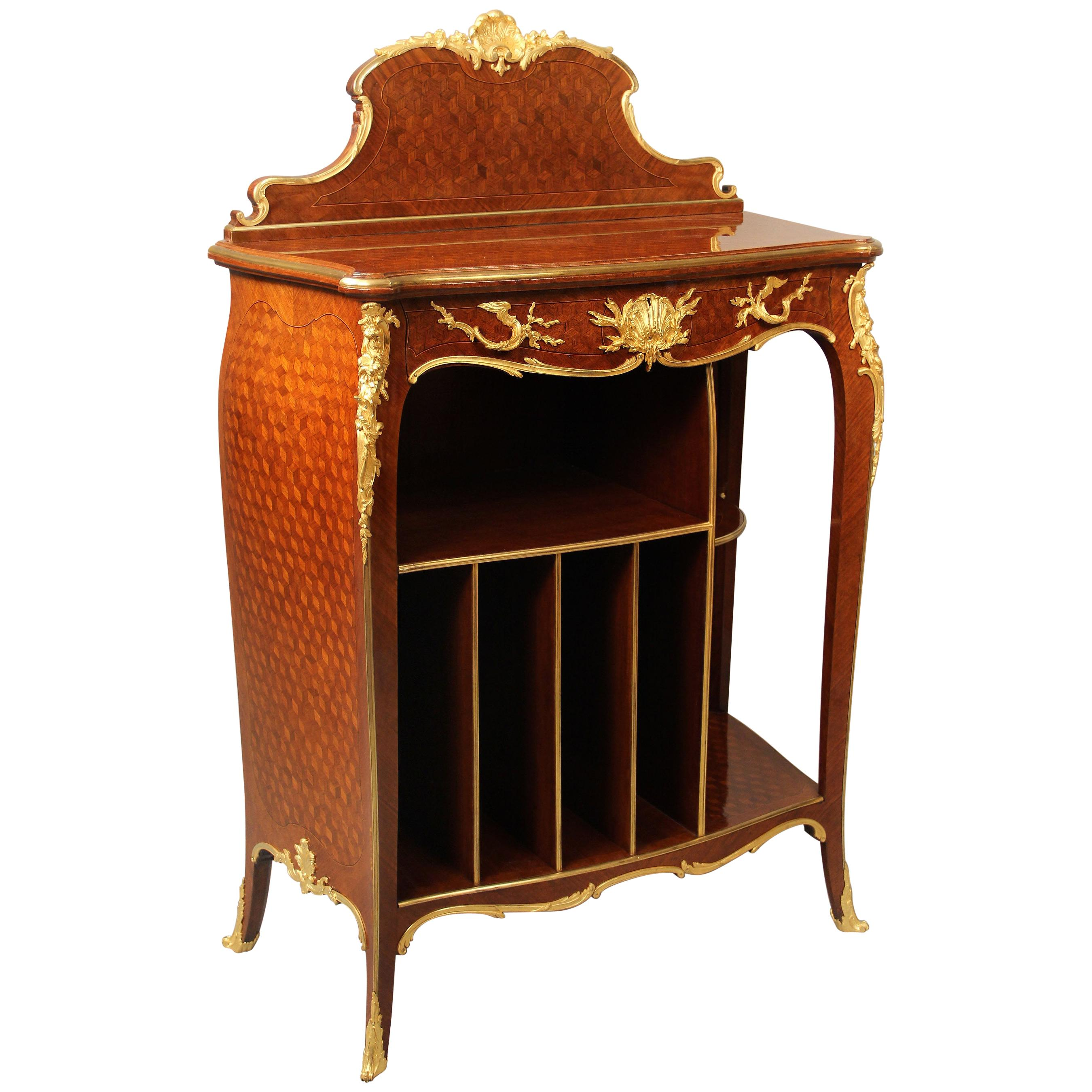 Unique Late 19th Century Gilt Bronze Mounted Cabinet by François Linke