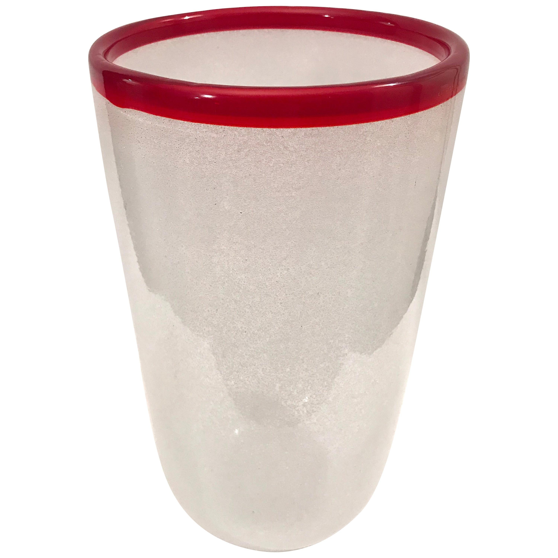 A. V. Mazzega Murano Art Glass Vase
