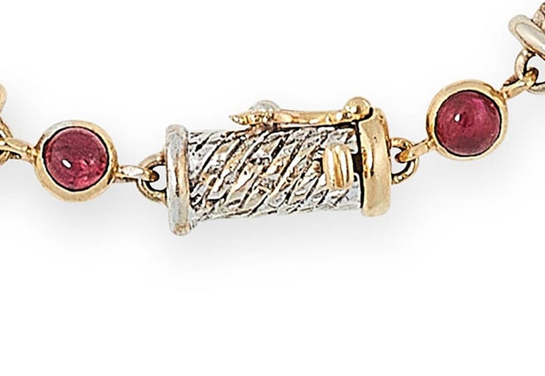 Contemporary Van Cleef & Arpels Ruby and Emerald Bracelet For Sale