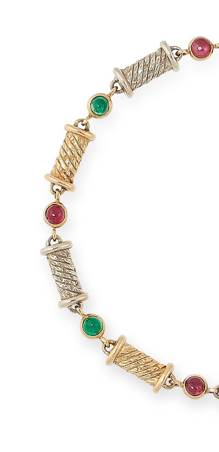 Van Cleef & Arpels Ruby and Emerald Bracelet In Good Condition For Sale In  London, GB
