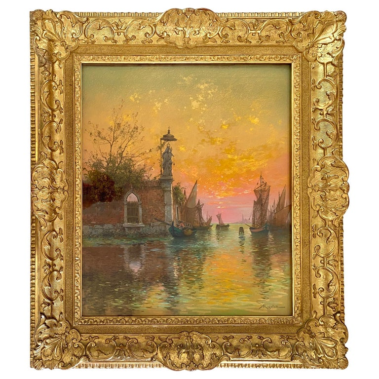 """A Venetian Canal"" by Albert Rigolot For Sale"