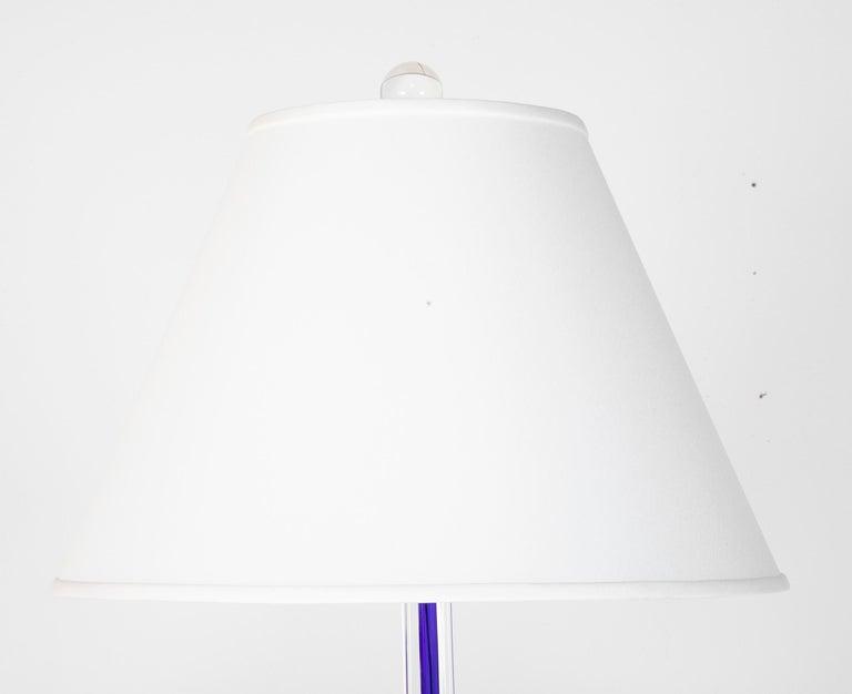 Italian Venini Glass Floor Lamp, circa 1999 For Sale