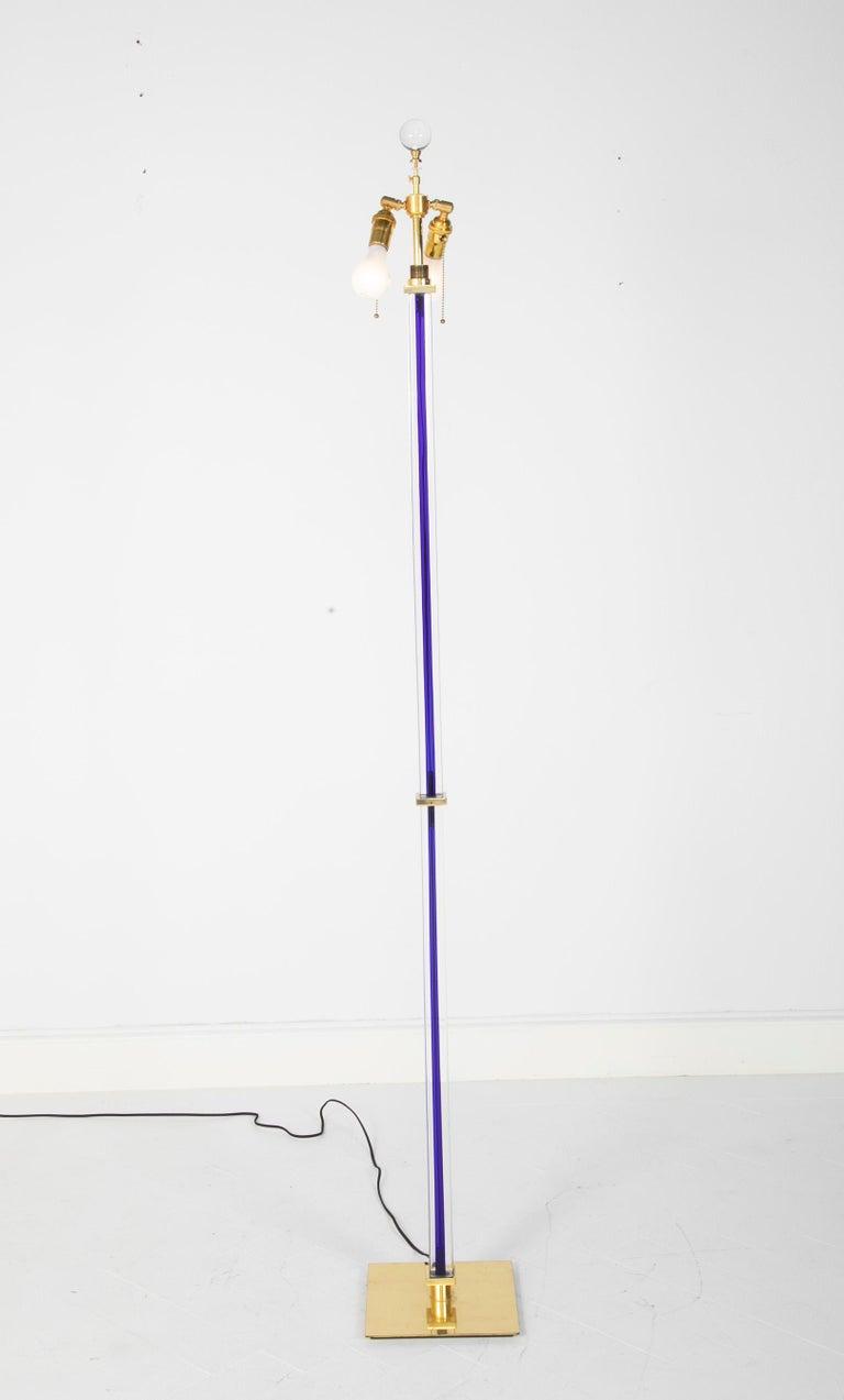 Venini Glass Floor Lamp, circa 1999 In Good Condition For Sale In Stamford, CT