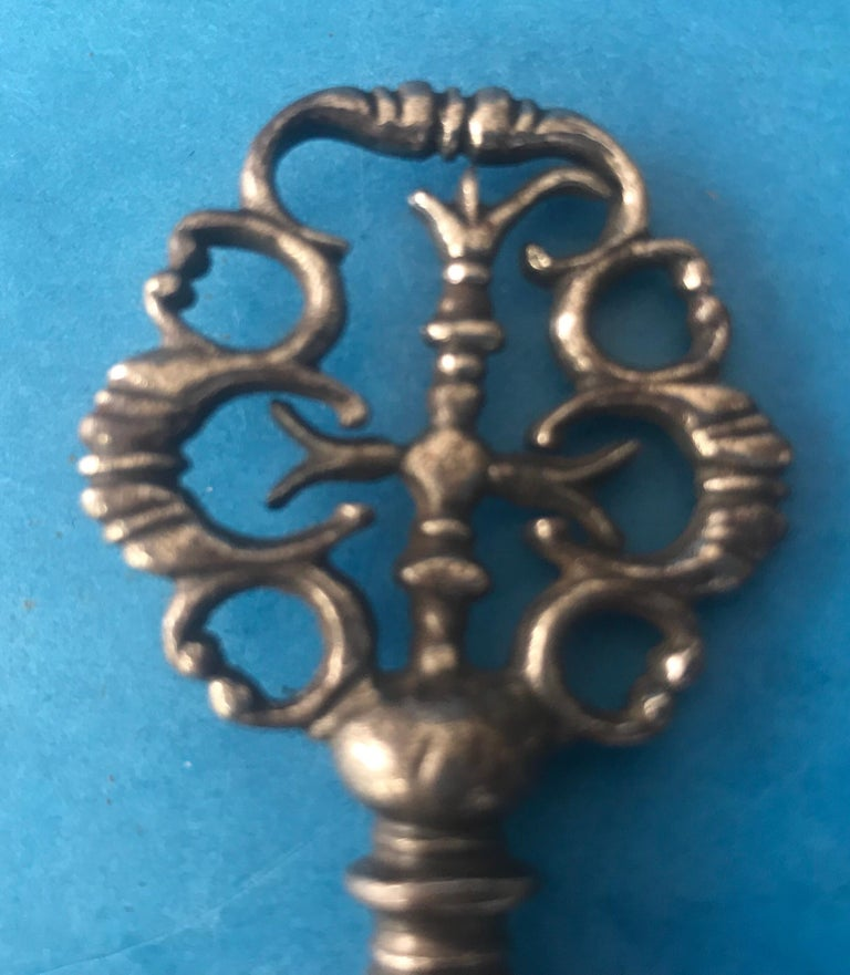 Very Early Unusual and Superb Steel Lantern Key For Sale 4
