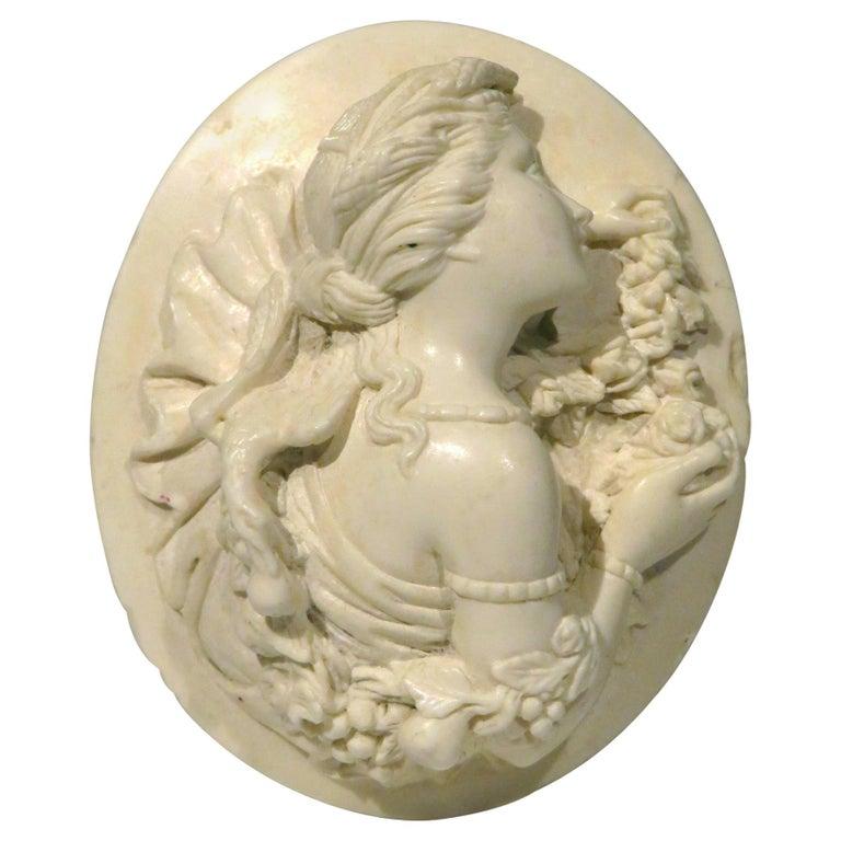 Very Fine 19th Century Carved Lava Cameo, Continental Circa 1870 For Sale